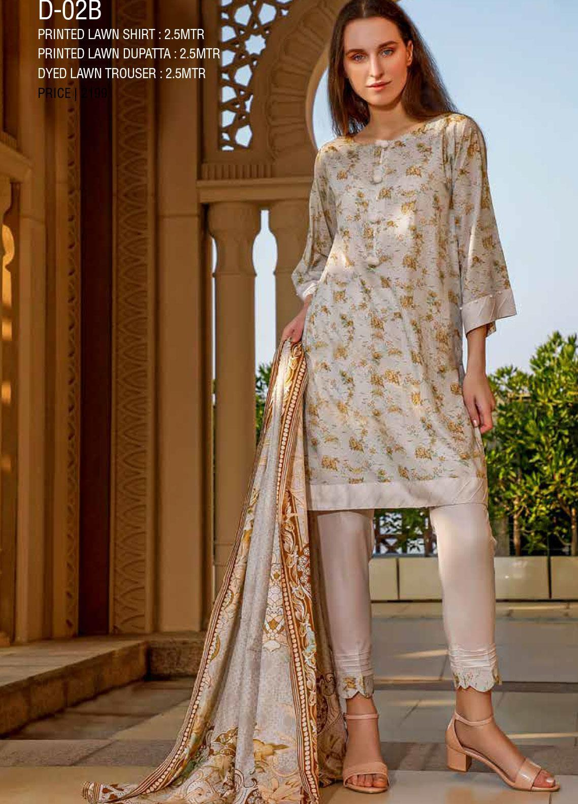Ittehad Textiles Printed Lawn Unstitched 3 Piece Suit ITD20CS 02B - Summer Collection