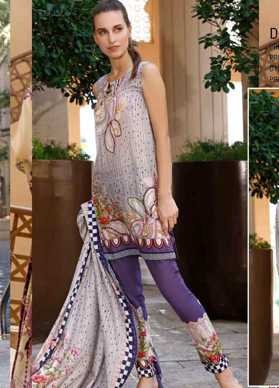 Ittehad Textiles Printed Lawn Unstitched 3 Piece Suit ITD20CS 09B - Summer Collection