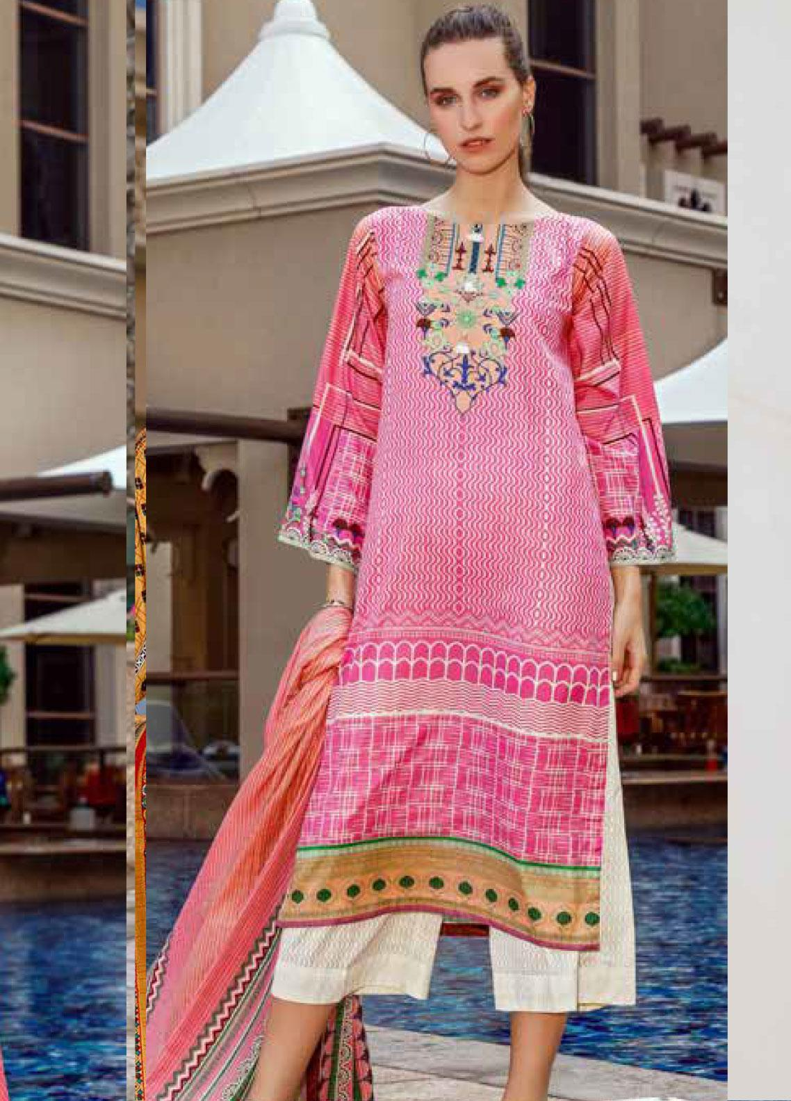 Ittehad Textiles Printed Lawn Unstitched 3 Piece Suit ITD20CS 21A - Summer Collection