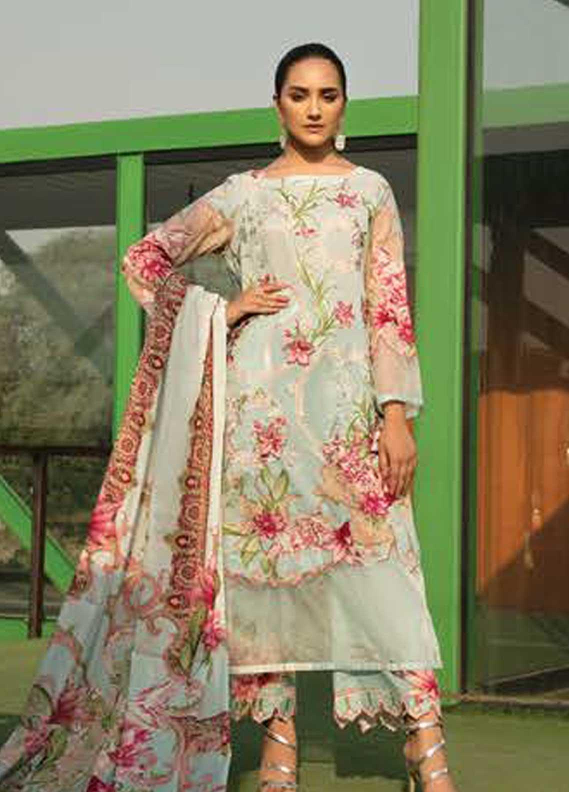 Ittehad Textiles Embroidered Lawn Unstitched 3 Piece Suit ITD19-L2 MORNING MIST - Mid Summer Collection