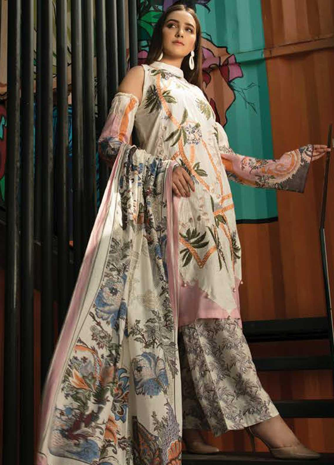 Ittehad Textiles Embroidered Lawn Unstitched 3 Piece Suit ITD19-L2 TROPICAL BLOSSOM - Mid Summer Collection