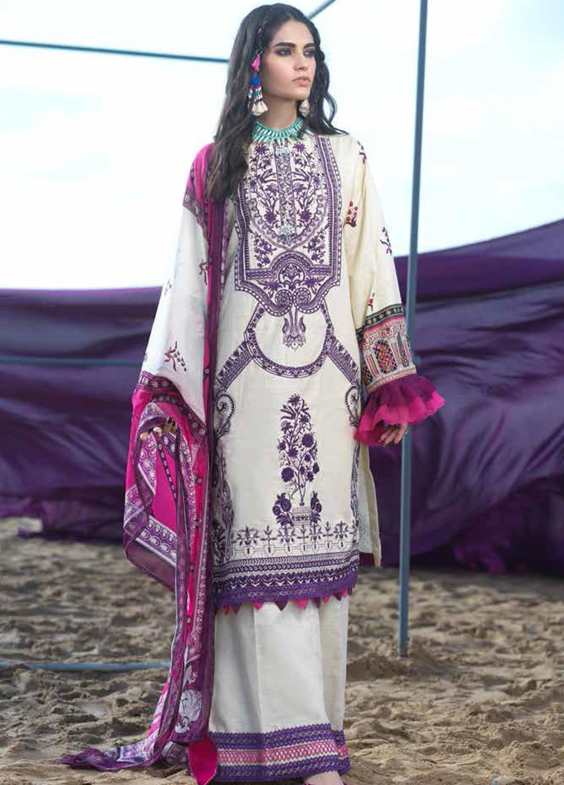 Ittehad Textiles Embroidered Khaddar Unstitched 3 Piece Suit ITD20FW 02 ETHNIC SHINE - Winter Collection