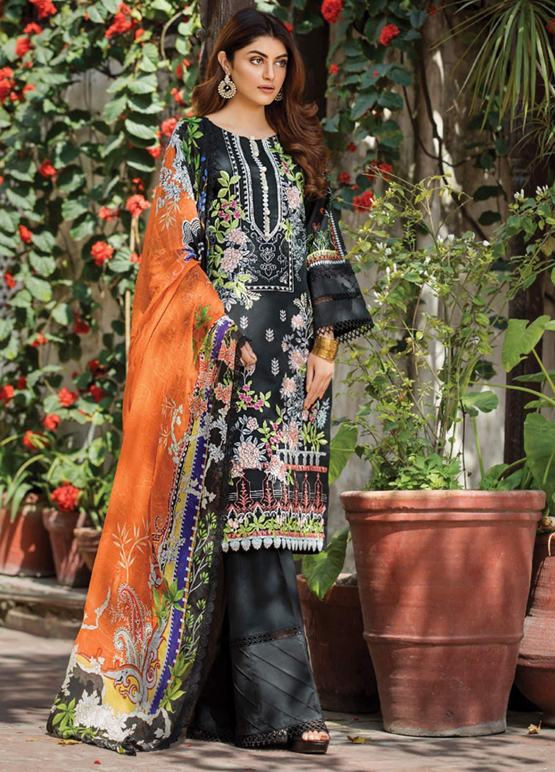 Ittehad Textiles Embroidered Lawn Unstitched 3 Piece Suit ITD20F 17 Barbara - Spring / Summer Collection