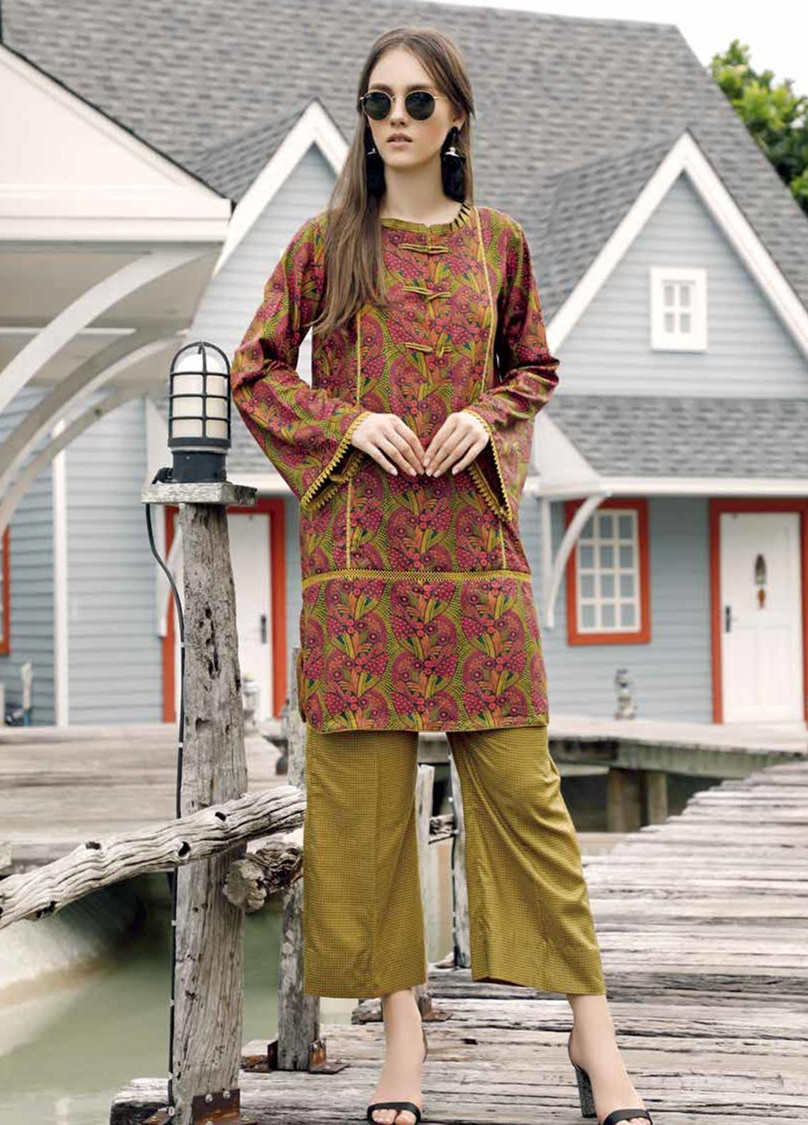 Ittehad Textiles Printed Linen Unstitched 2 Piece Suit ITD19HL 09A - Winter Collection