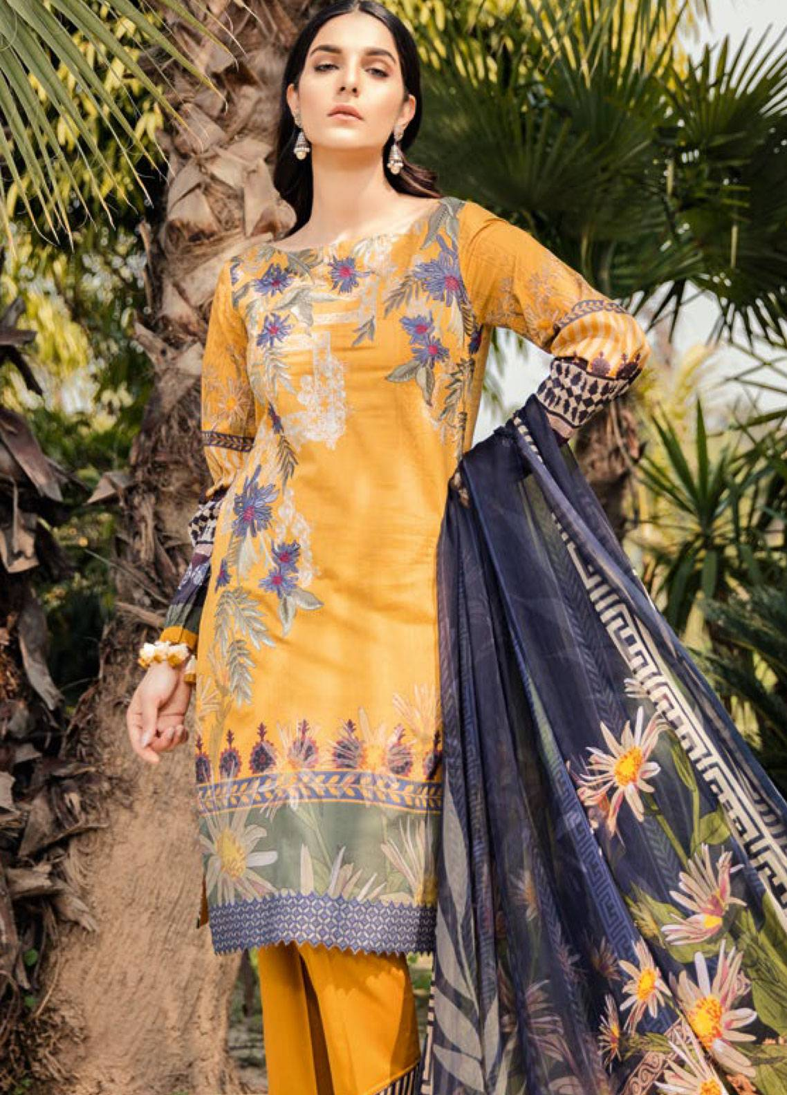 Iznik Embroidered Lawn Unstitched 3 Piece Suit IZC19L 04 BRIGHT SUPPER - Spring / Summer Collection