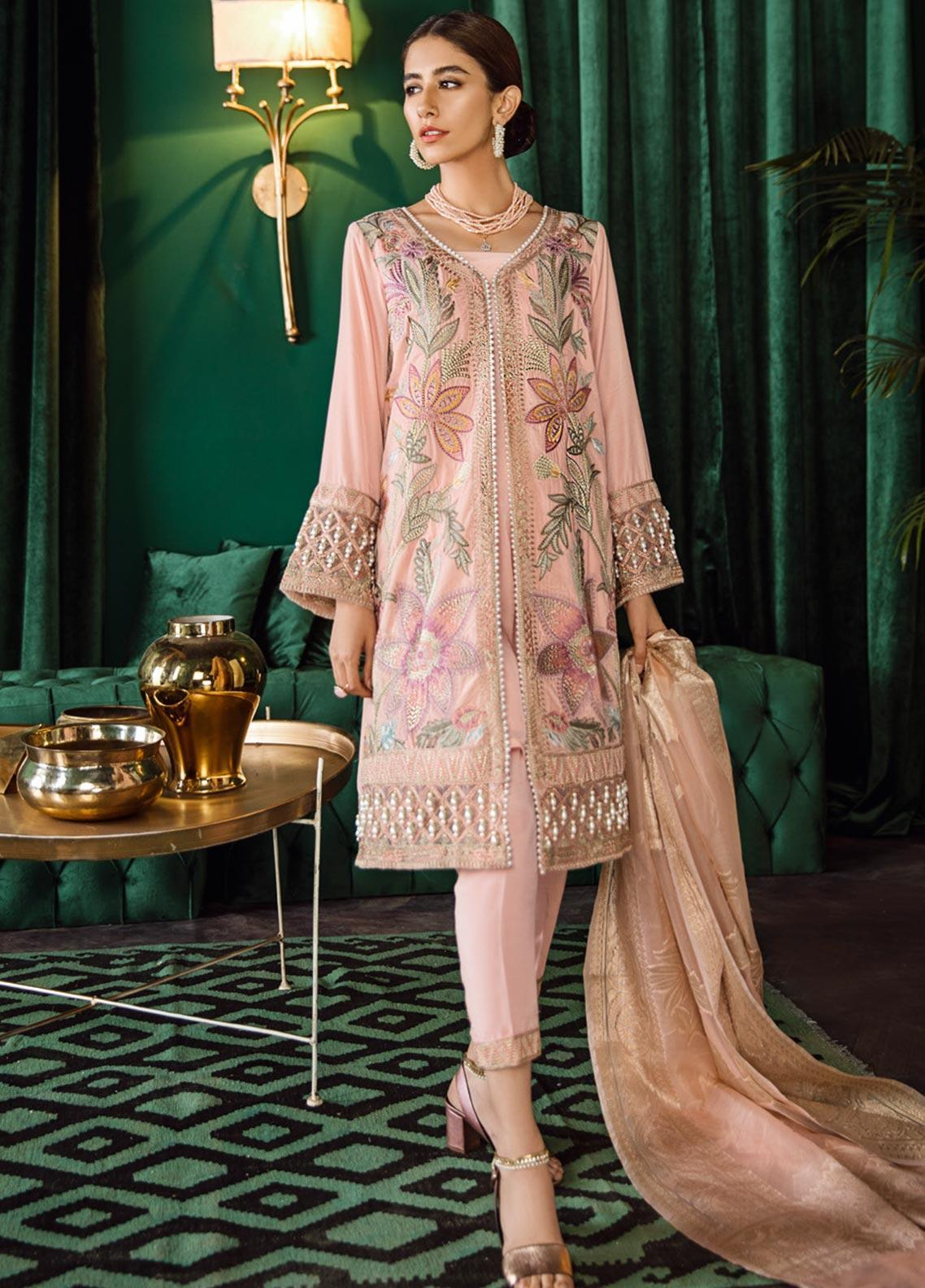 Iznik Embroidered Velvet Unstitched 3 Piece Suit IZ19VF 10 Ballerina - Festive Collection