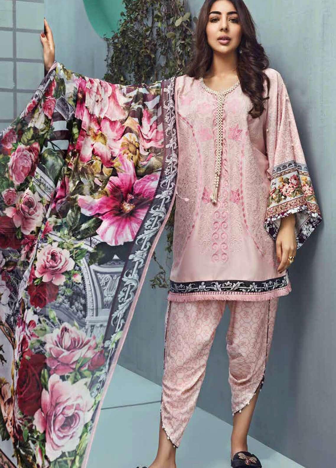 Jahanara Embroidered Linen Unstitched 3 Piece Suit JNW18L 01 - Luxury Collection
