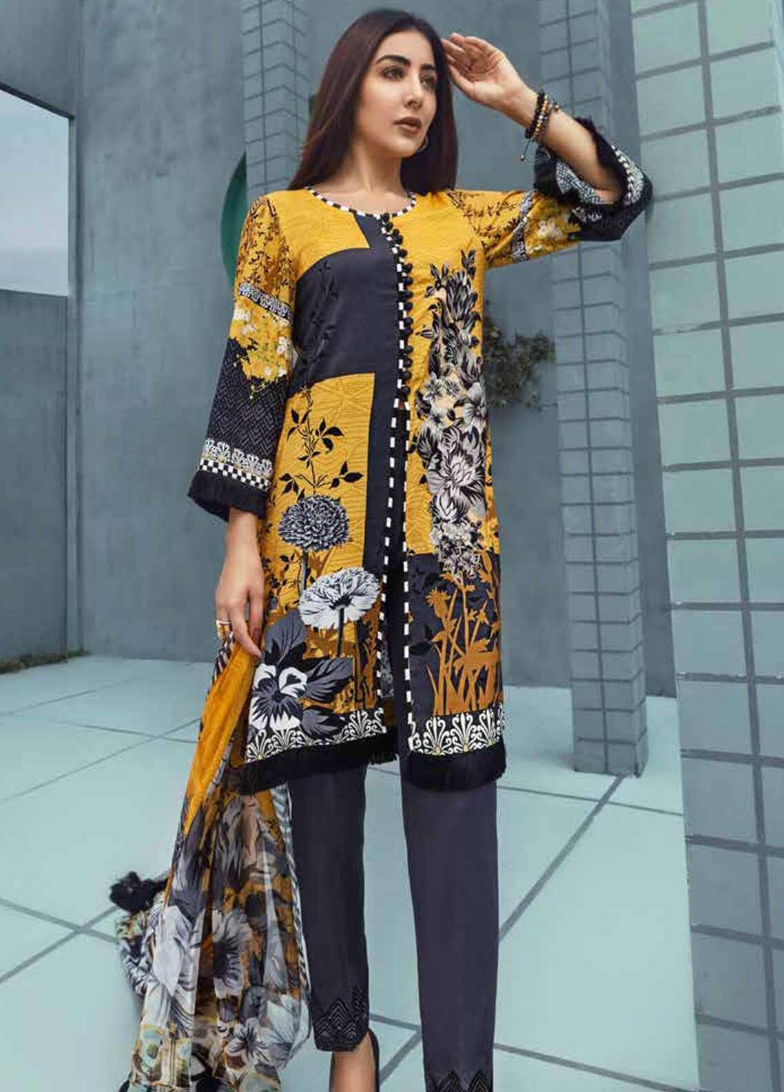 Jahanara Embroidered Linen Unstitched 3 Piece Suit JNW18L 03 - Luxury Collection