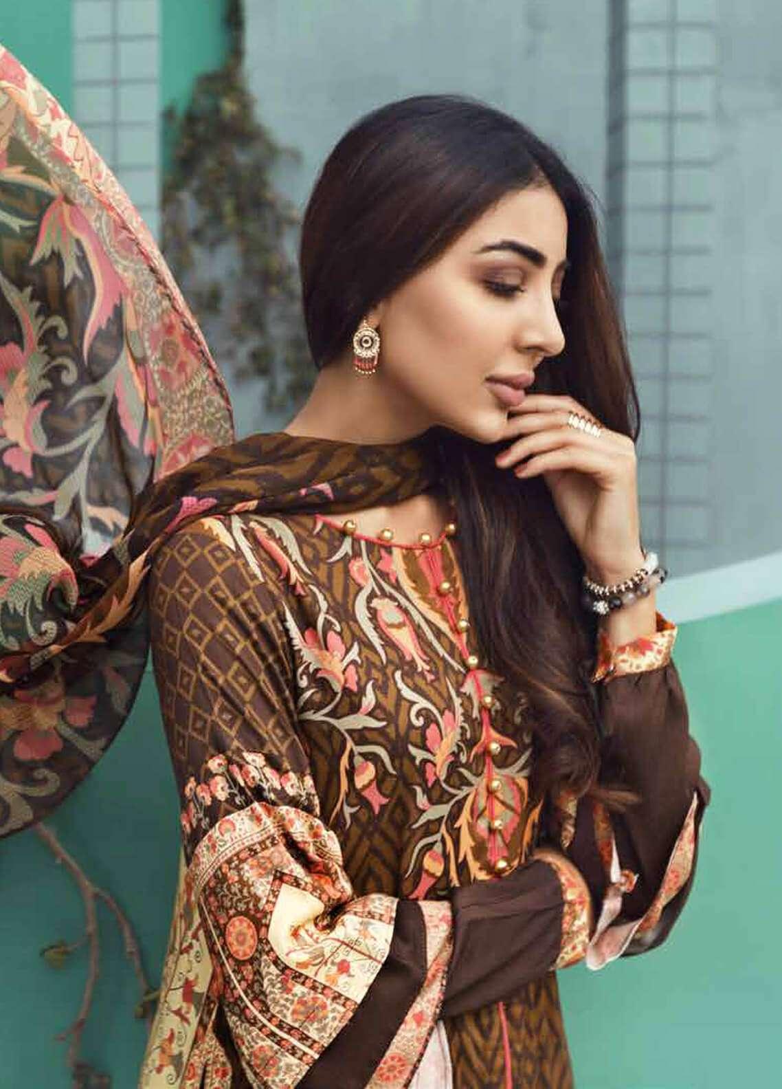 Jahanara Embroidered Linen Unstitched 3 Piece Suit JNW18L 05 - Luxury Collection