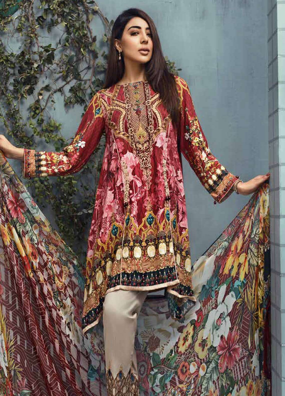 Jahanara Embroidered Linen Unstitched 3 Piece Suit JNW18L 08 - Luxury Collection
