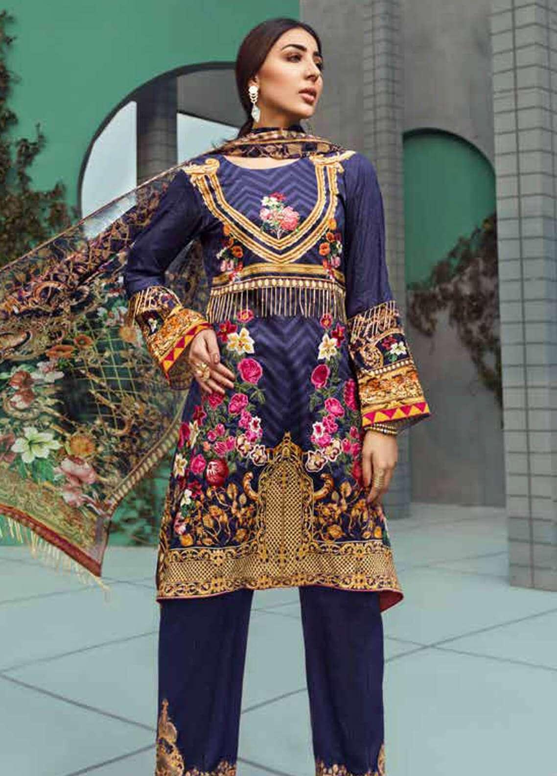 Jahanara Embroidered Linen Unstitched 3 Piece Suit JNW18L 09 - Luxury Collection