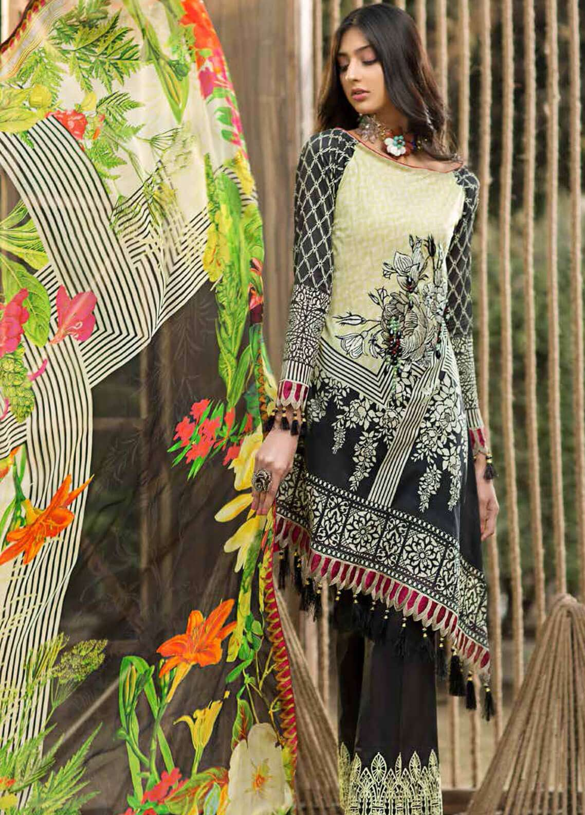 Jahanara Embroidered Lawn Unstitched 3 Piece Suit JN19L 03 - Spring / Summer Collection