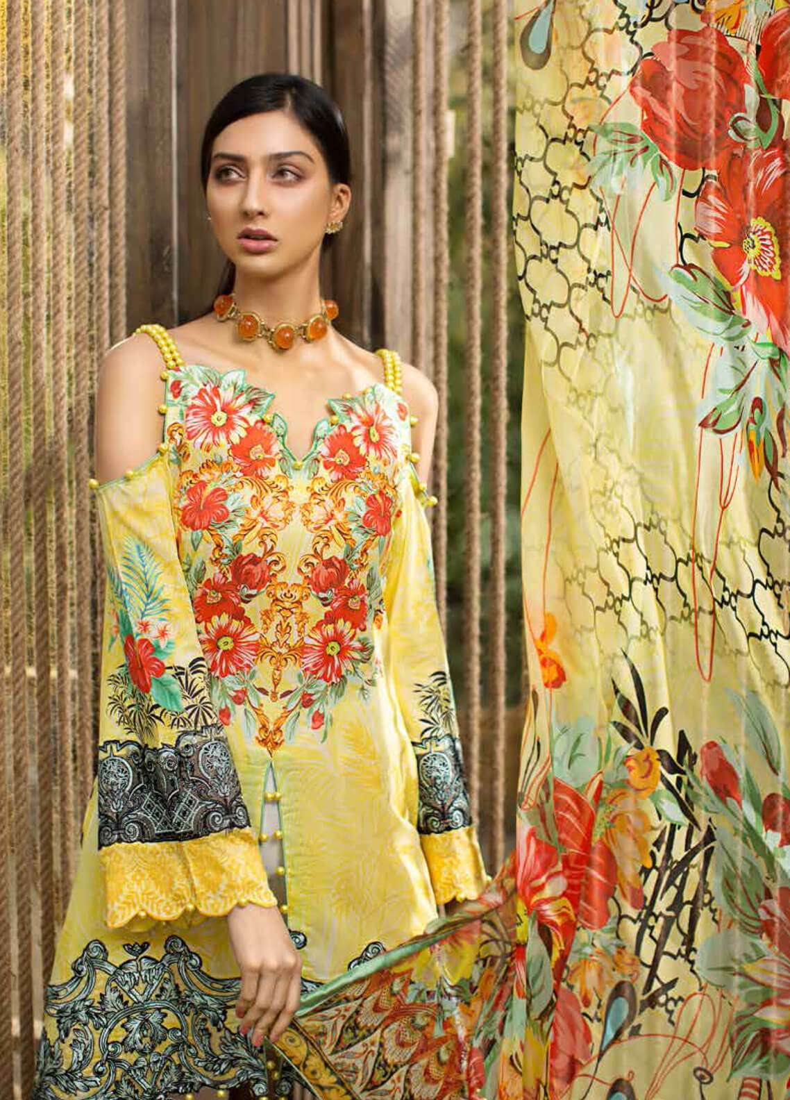Jahanara Embroidered Lawn Unstitched 3 Piece Suit JN19L 07 - Spring / Summer Collection