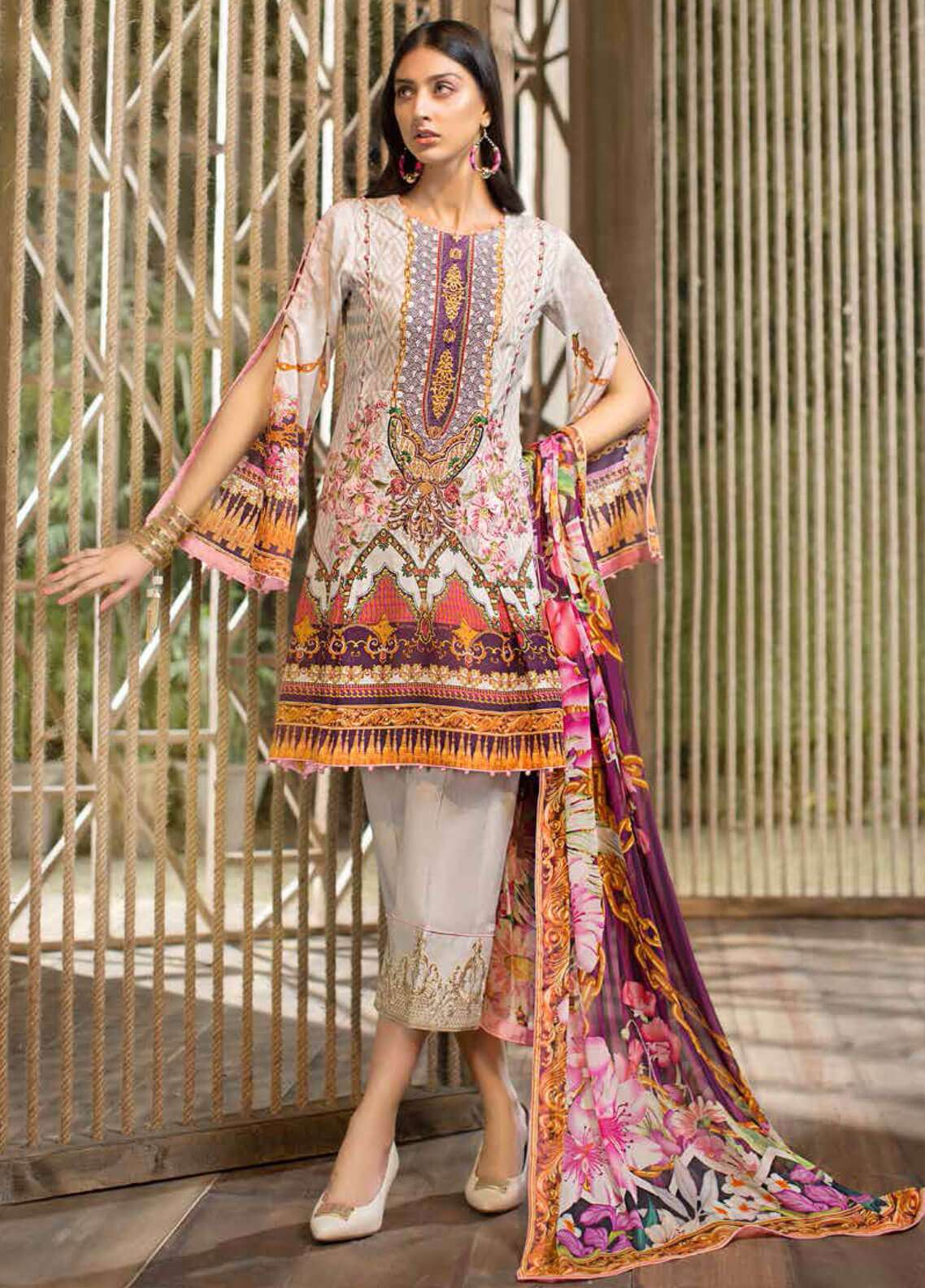 Jahanara Embroidered Lawn Unstitched 3 Piece Suit JN19L 10 - Spring / Summer Collection
