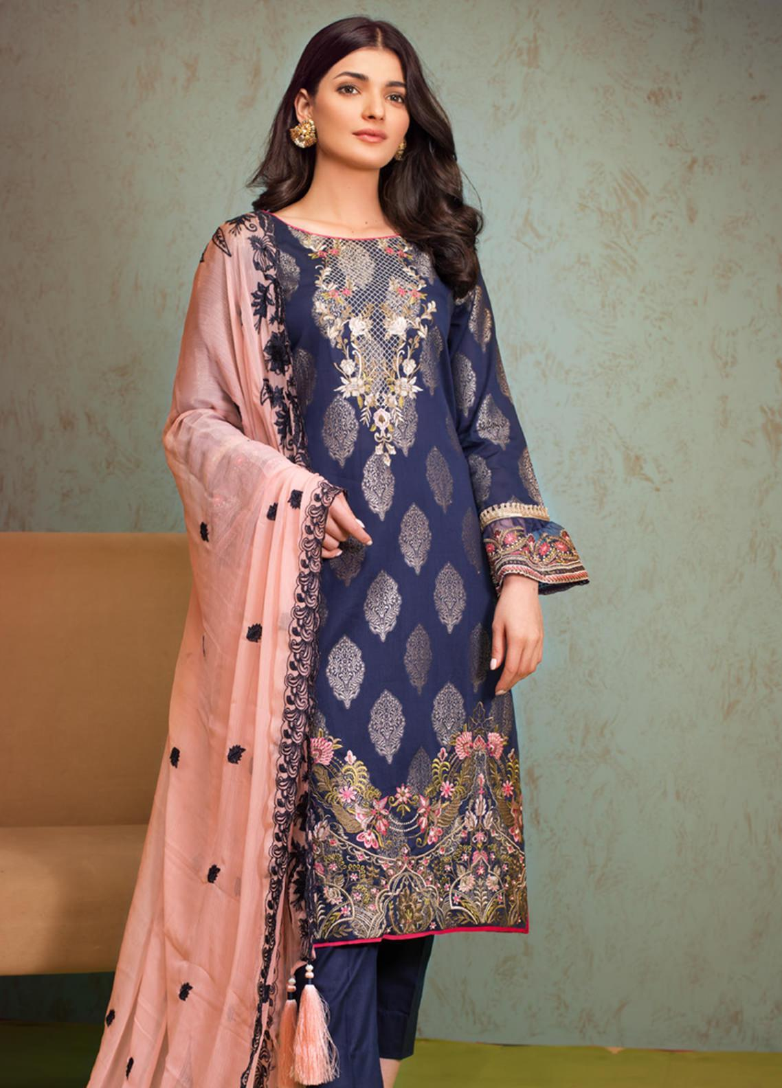 Jaipur by ZS Textiles Embroidered Jacquard Unstitched 3 Piece Suit ZS20JJ 3 Spring Summer Collection