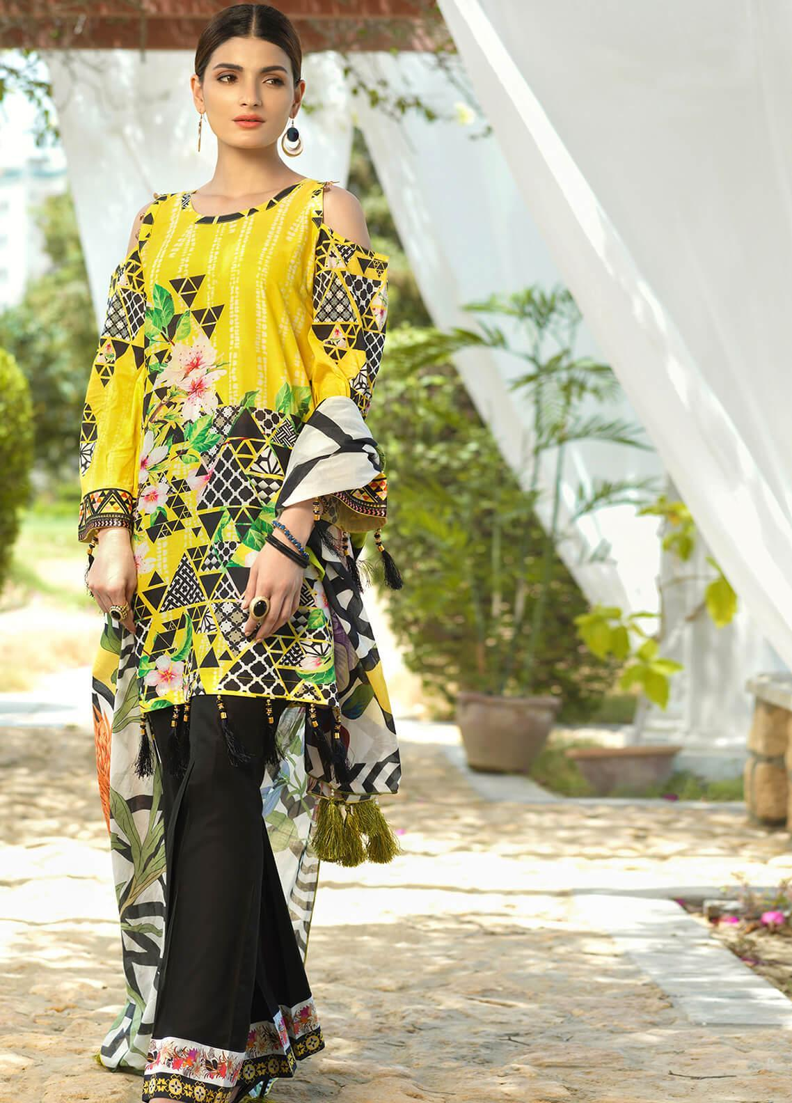 Jan-e-Adaa by Keshia Embroidered Lawn Unstitched 3 Piece Suit K20JA 13 KE-CS-0620 Armastus - Luxury Collection