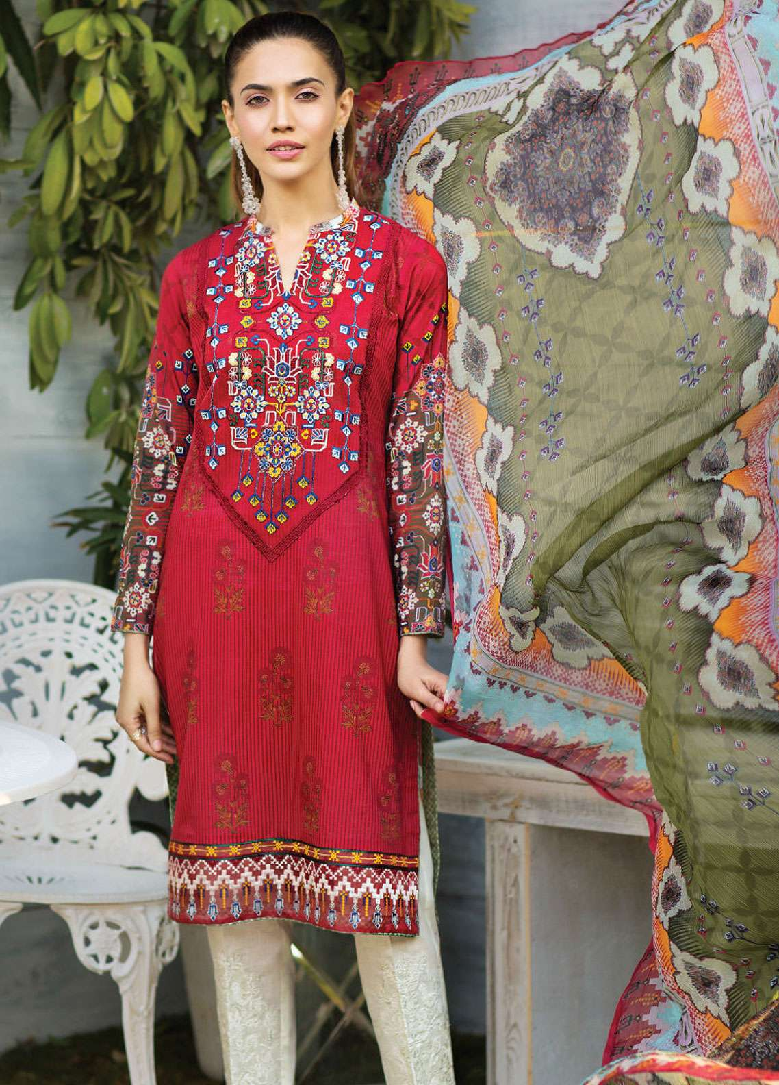 Janiya by Resham Ghar Embroidered Lawn Unstitched 3 Piece Suit JRG19L 04 - Spring / Summer Collection