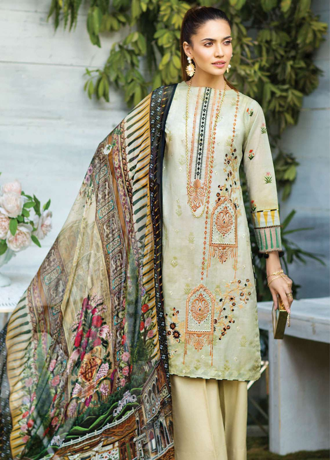 Janiya by Resham Ghar Embroidered Lawn Unstitched 3 Piece Suit JRG19L 05 - Spring / Summer Collection