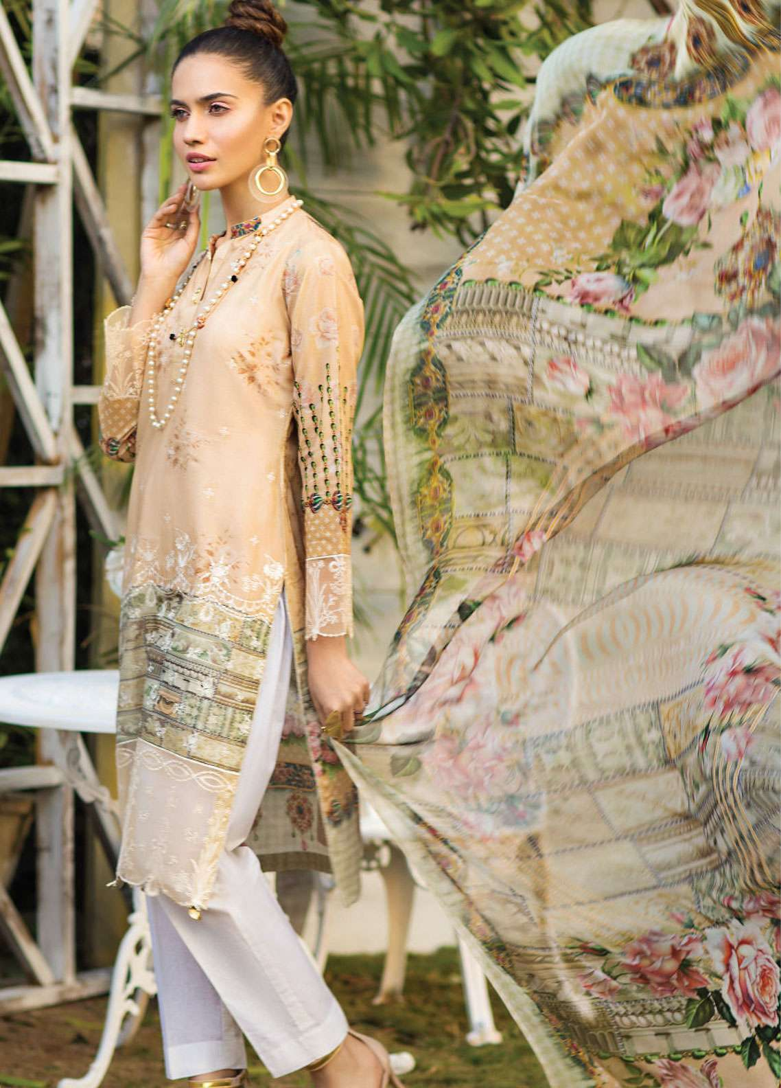Janiya by Resham Ghar Embroidered Lawn Unstitched 3 Piece Suit JRG19L 07 - Spring / Summer Collection