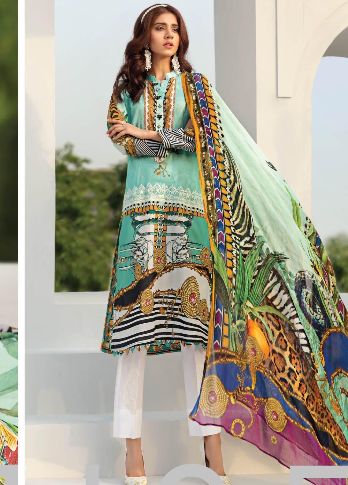 Janiya by Resham Ghar Embroidered Lawn Unstitched 3 Piece Suit JRG19-L2 05 - Mid Summer Collection