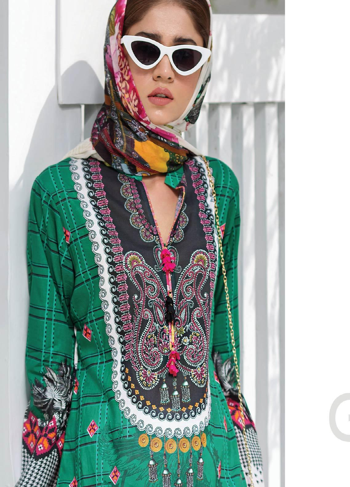 Janiya by Resham Ghar Embroidered Lawn Unstitched 3 Piece Suit JRG19-L2 09 - Mid Summer Collection