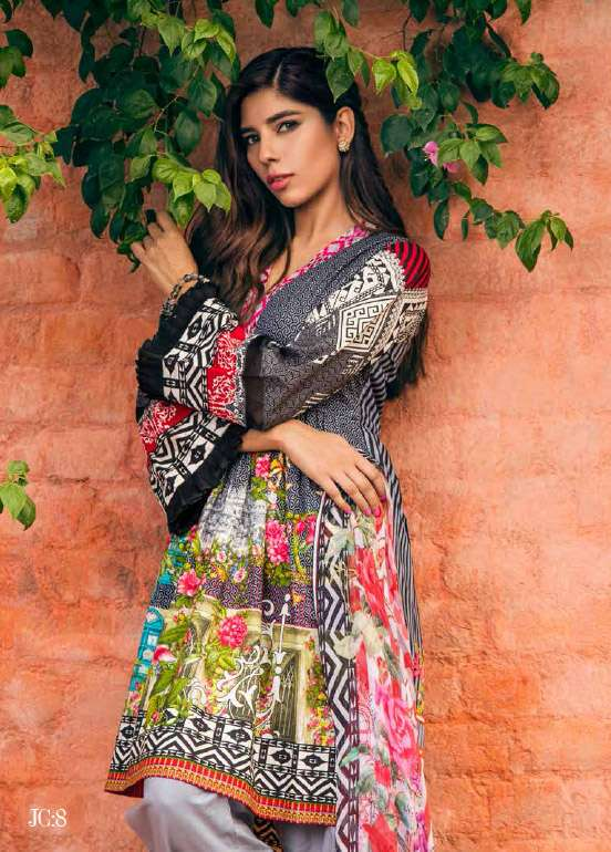 Jahanara Embroidered Cotton Unstitched 3 Piece Suit JN17C 08