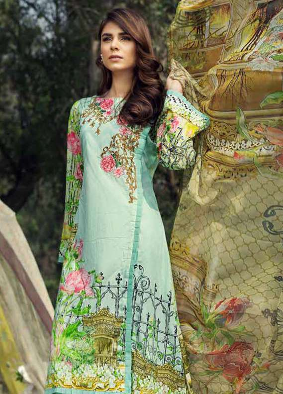 Jahanara Embroidered Lawn Unstitched 3 Piece Suit JN18L 02 - Spring / Summer Collection