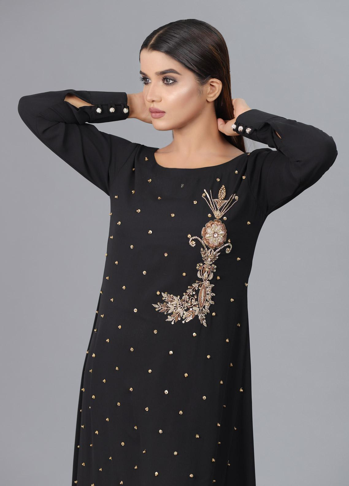 Kaara Formal Chiffon Stitched Kurti KR590