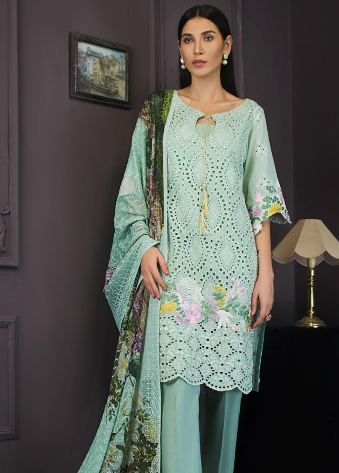 Kalyan By ZS Embroidered Chikankari Unstitched 3 Piece Suit KLY19-F2 04 - Festive Collection