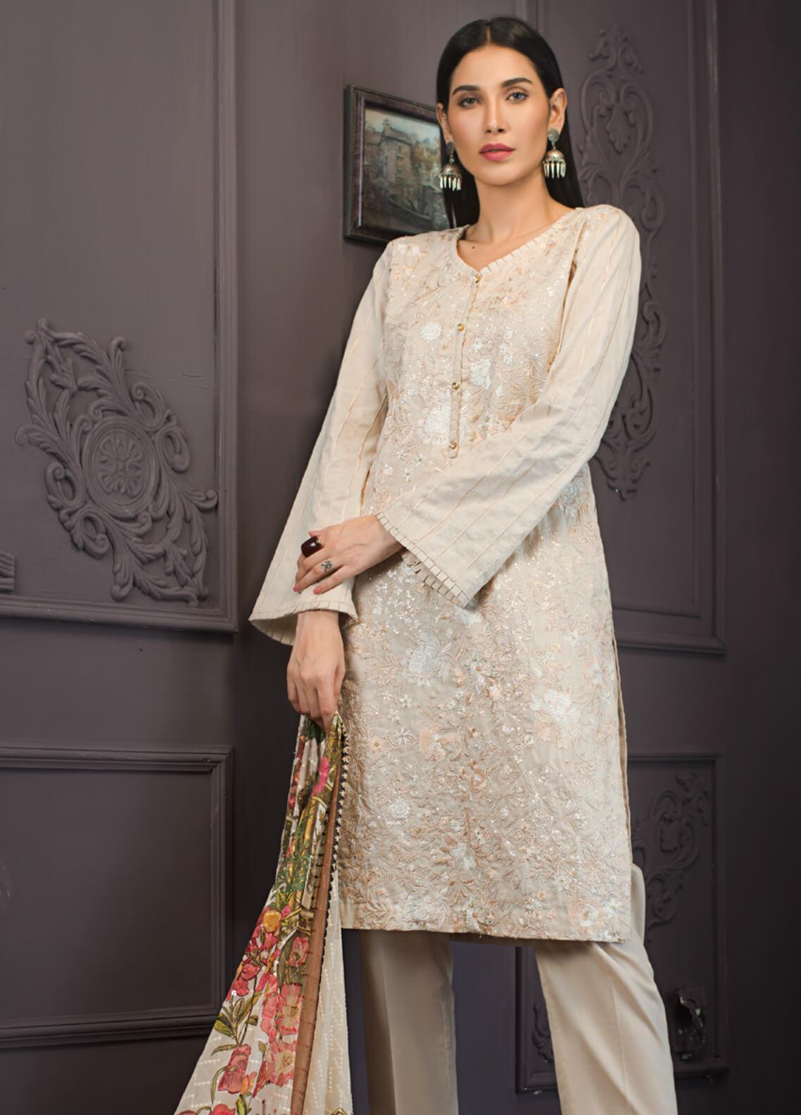 Kalyan By ZS Embroidered Lawn Unstitched 3 Piece Suit KLY19-F2 06 - Festive Collection