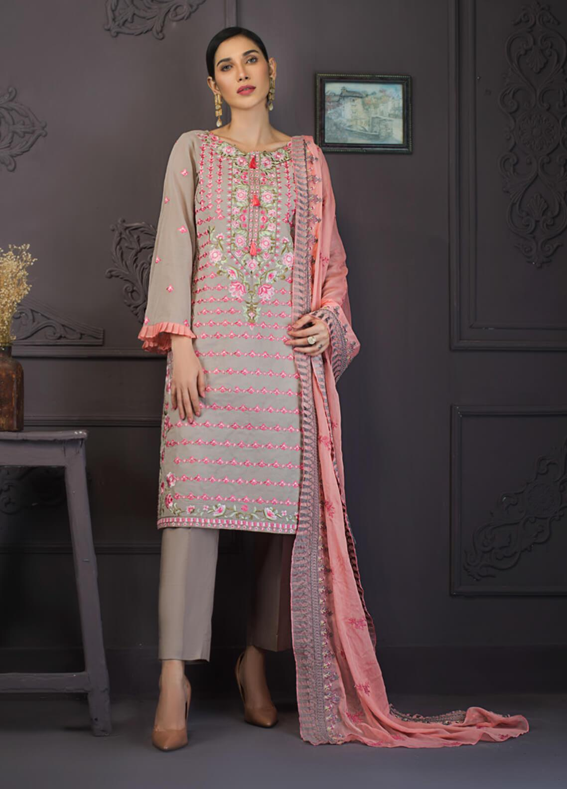 Kalyan By ZS Embroidered Lawn Unstitched 3 Piece Suit KLY19-F2 08 - Festive Collection
