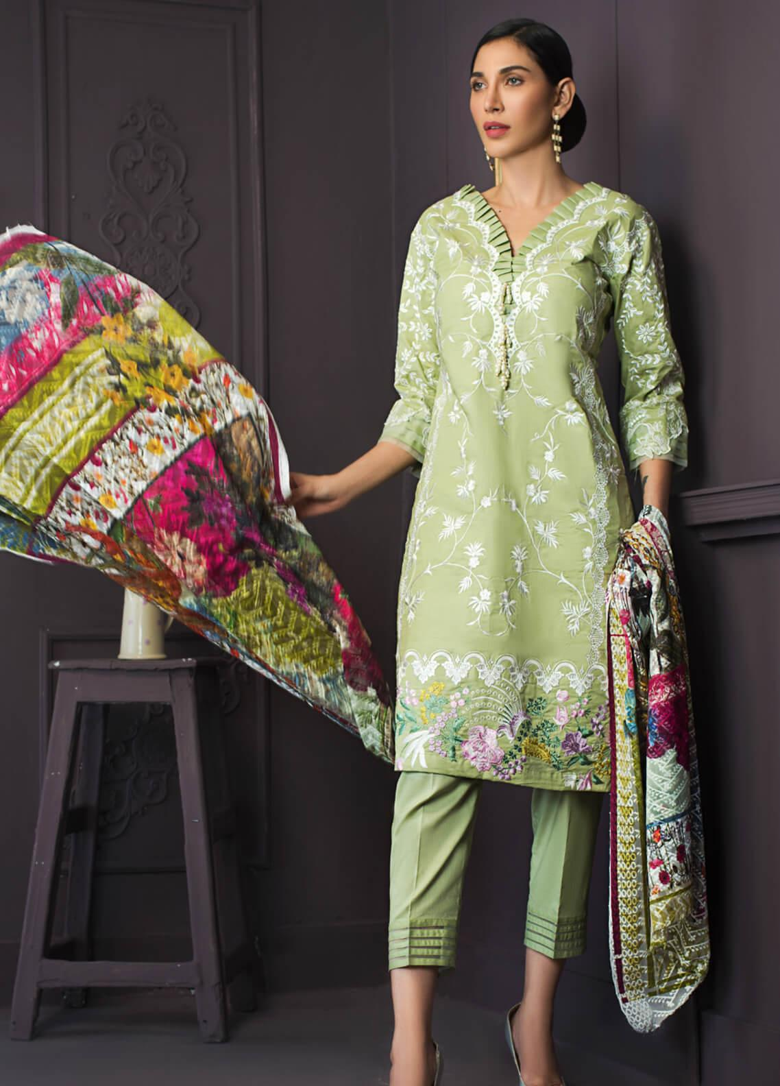 Kalyan By ZS Embroidered Lawn Unstitched 3 Piece Suit KLY19-F2 12 - Festive Collection
