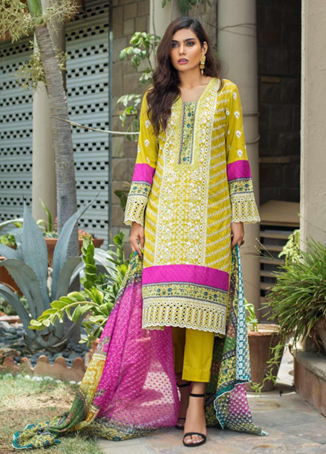 Kalyan By ZS Embroidered Schiffli Unstitched 3 Piece Suit KLY19-F3 03 - Festive Collection