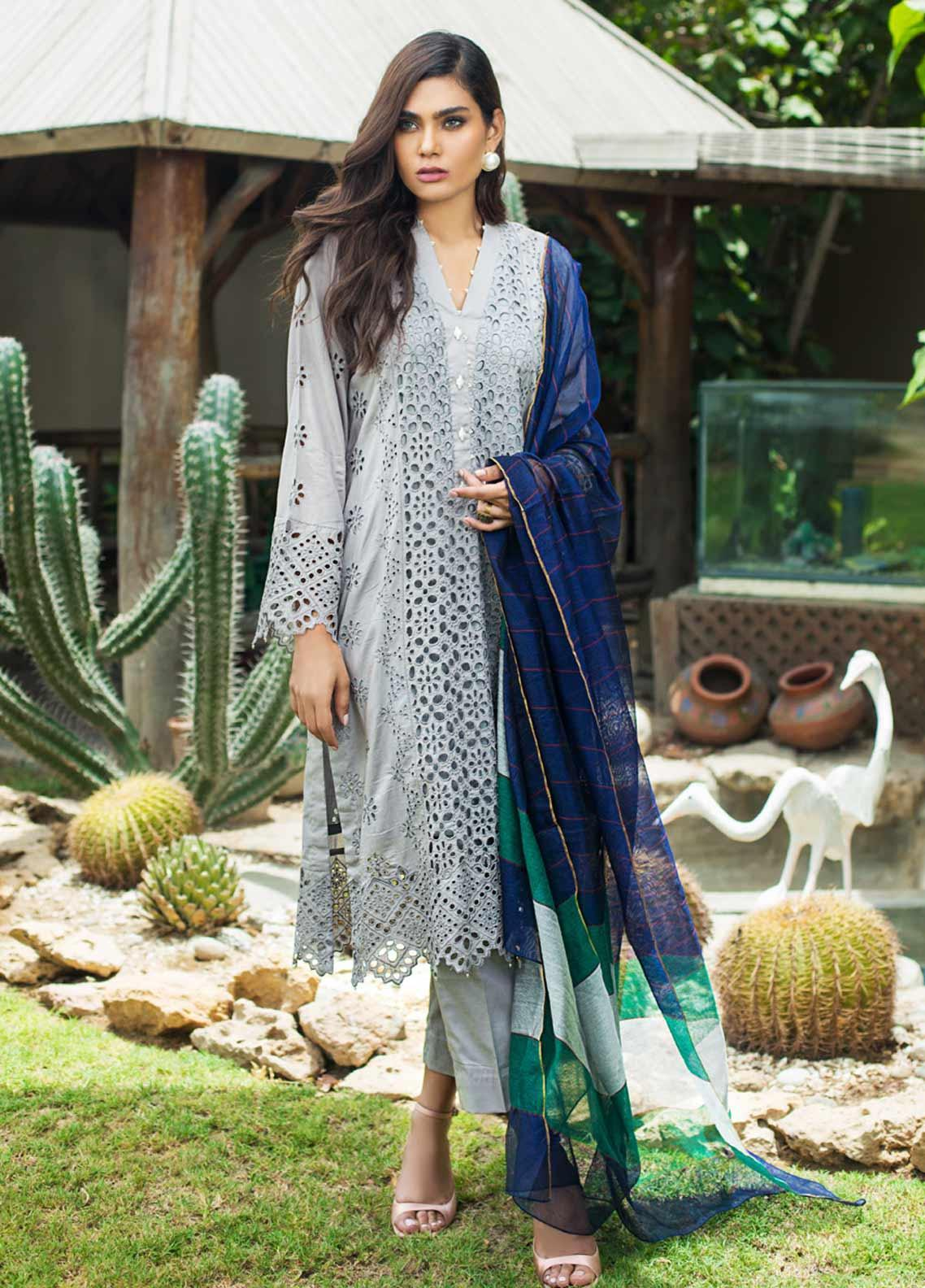 Kalyan By ZS Embroidered Schiffli Unstitched 3 Piece Suit KLY19-F3 04 - Festive Collection