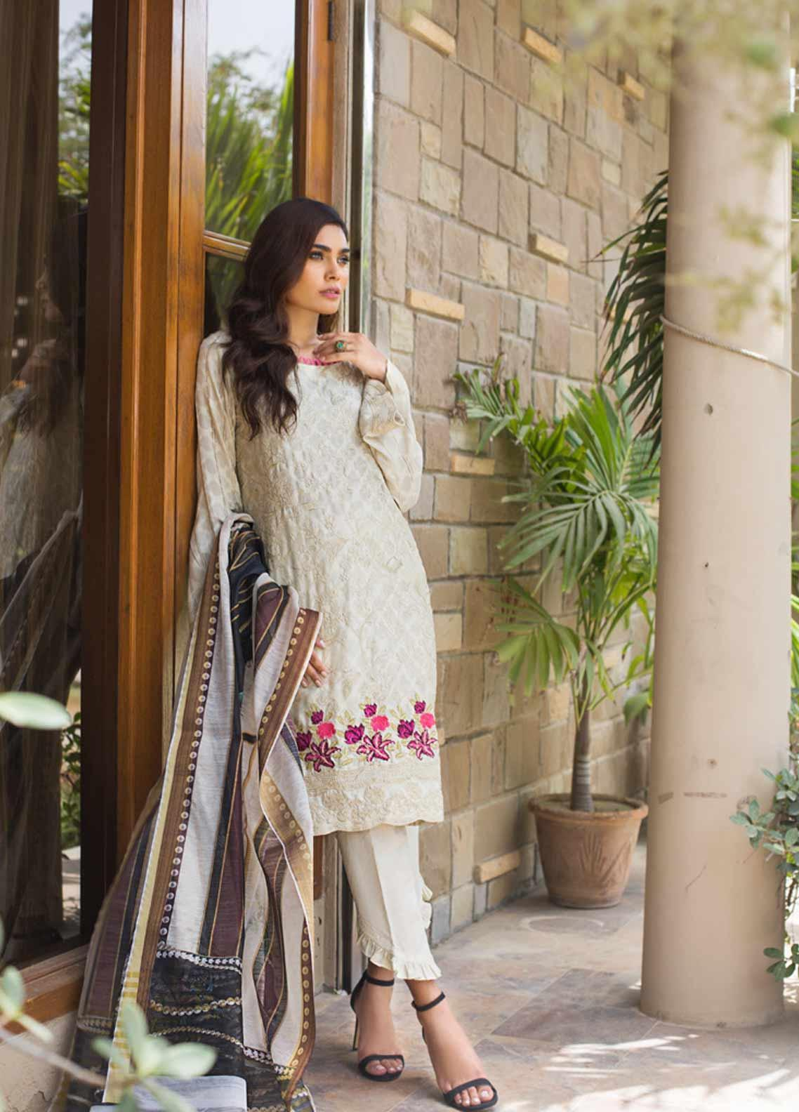 Kalyan By ZS Embroidered Broschia Unstitched 3 Piece Suit KLY19-F3 06 - Festive Collection