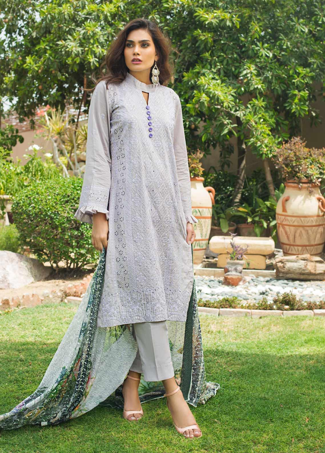 Kalyan By ZS Embroidered Lawn Unstitched 3 Piece Suit KLY19-F3 08 - Festive Collection