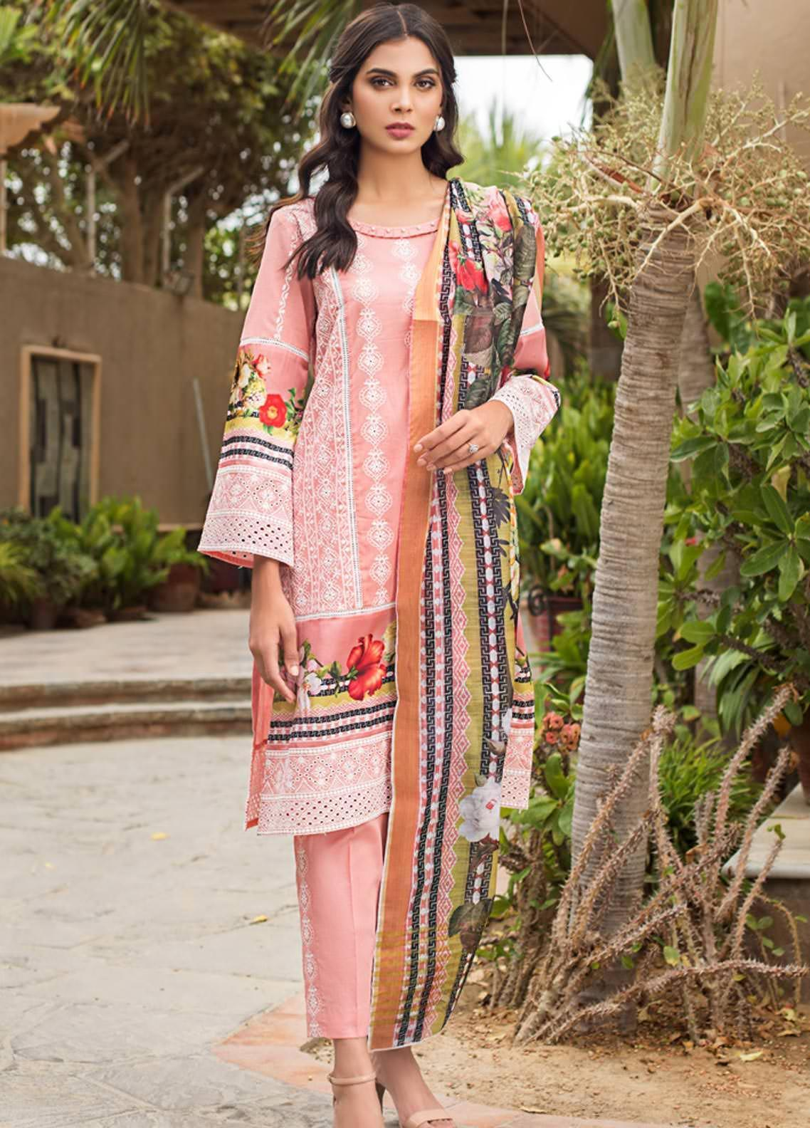 Kalyan By ZS Embroidered Lawn Unstitched 3 Piece Suit KLY19-F4 01 - Festive Collection