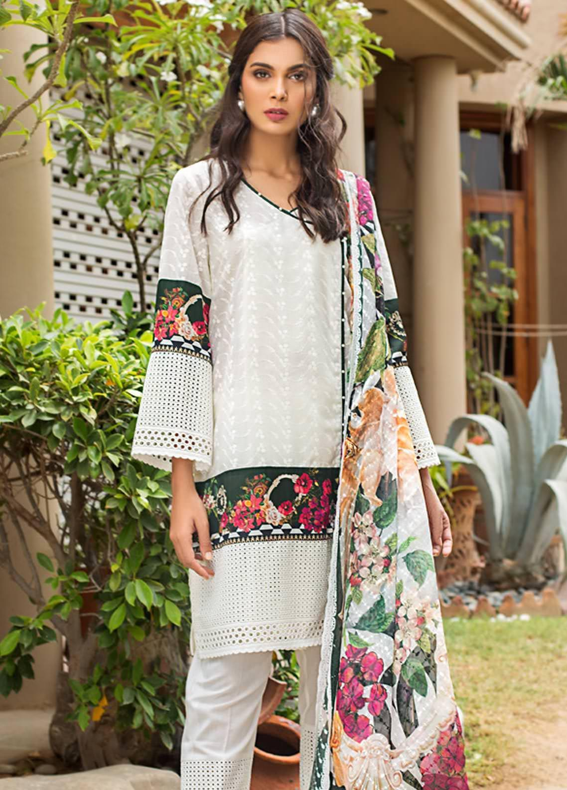 Kalyan By ZS Embroidered Schiffli Unstitched 3 Piece Suit KLY19-F4 02 - Festive Collection