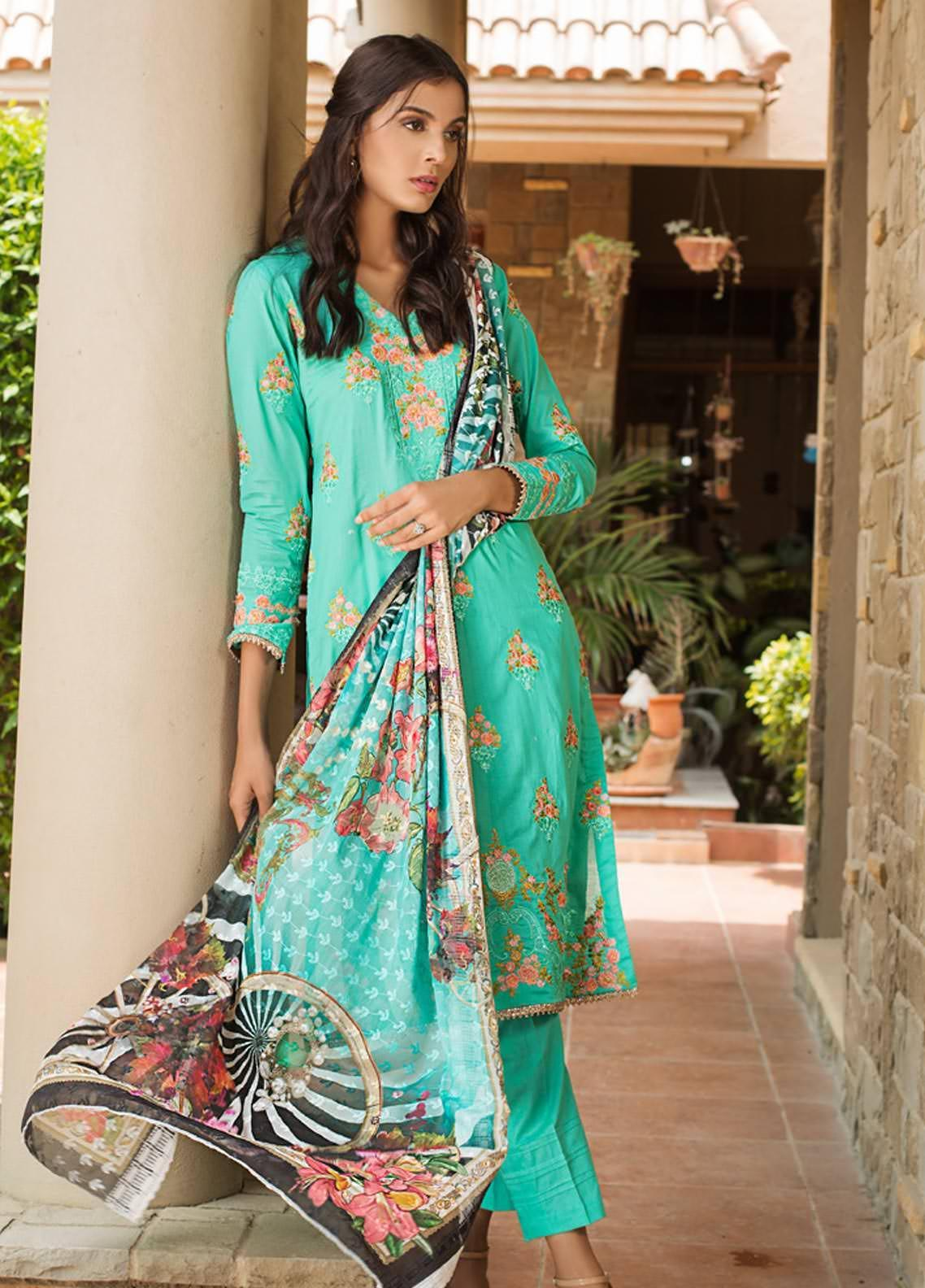 Kalyan By ZS Embroidered Lawn Unstitched 3 Piece Suit KLY19-F4 12 - Festive Collection