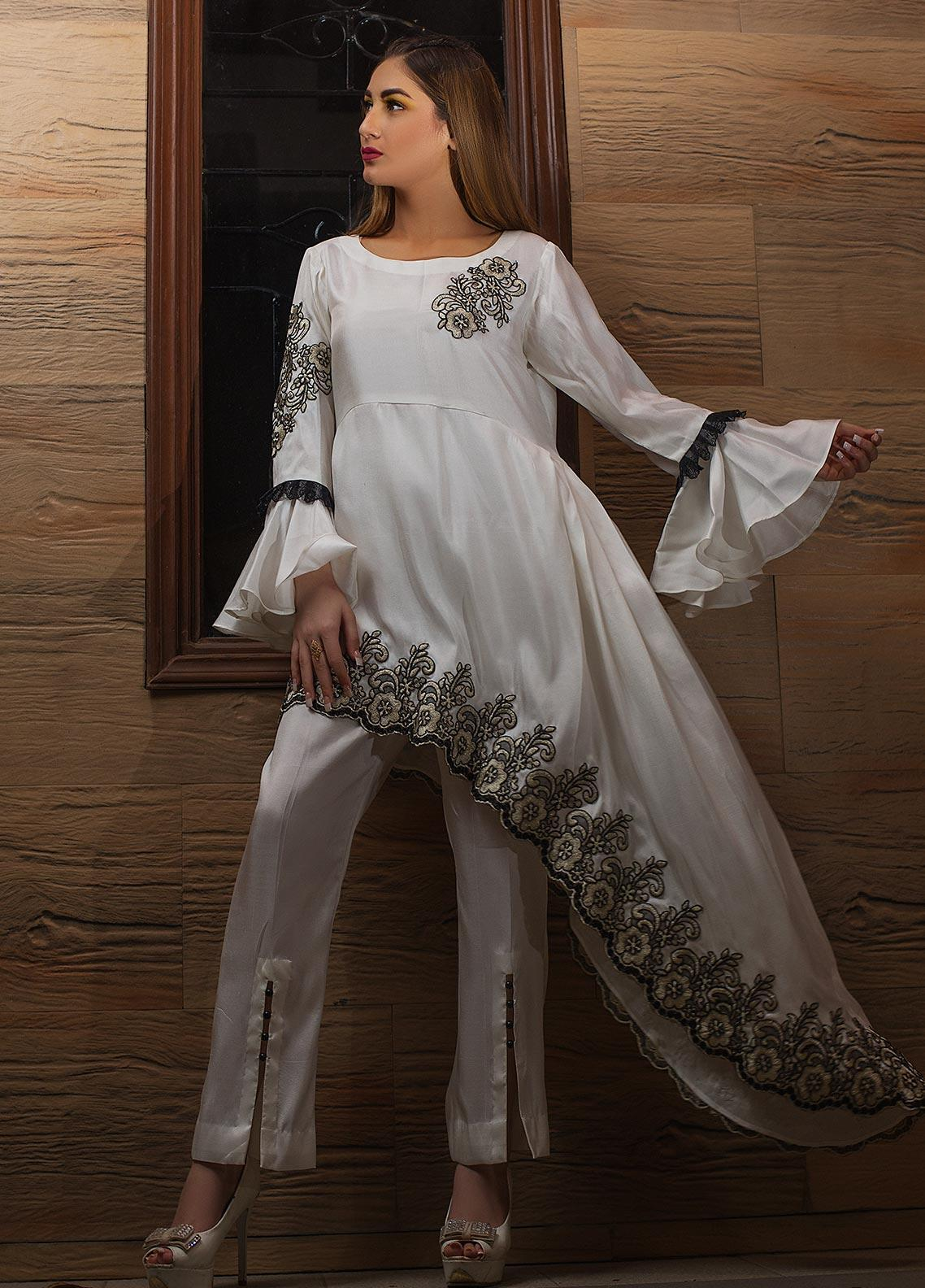 Kashbia Embroidered Raw Silk Stitched 2 Piece 8001-KB-003