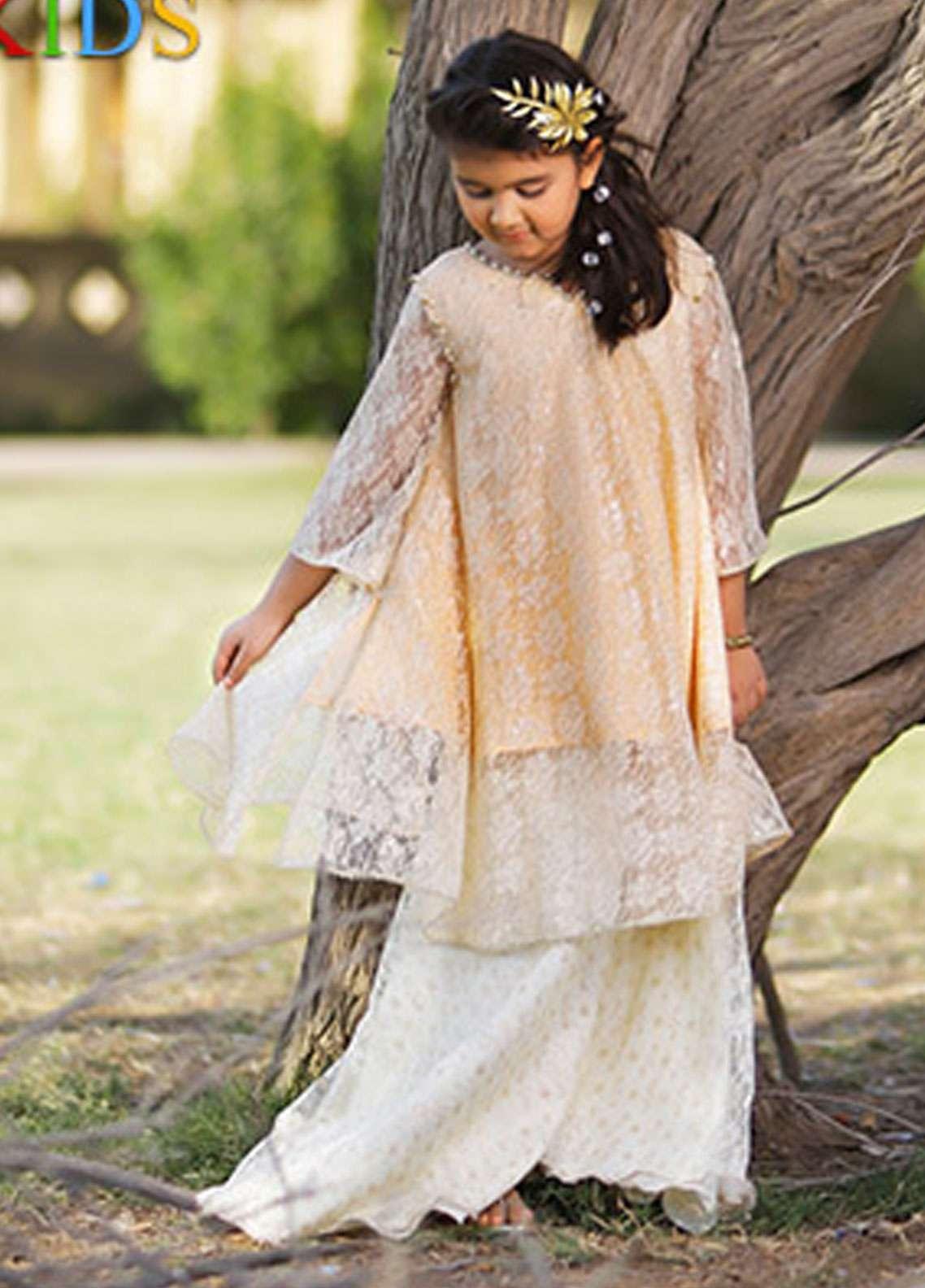 Keshia Zari Net Frock Style Kurtis for Girls -  KD-013 Pippin