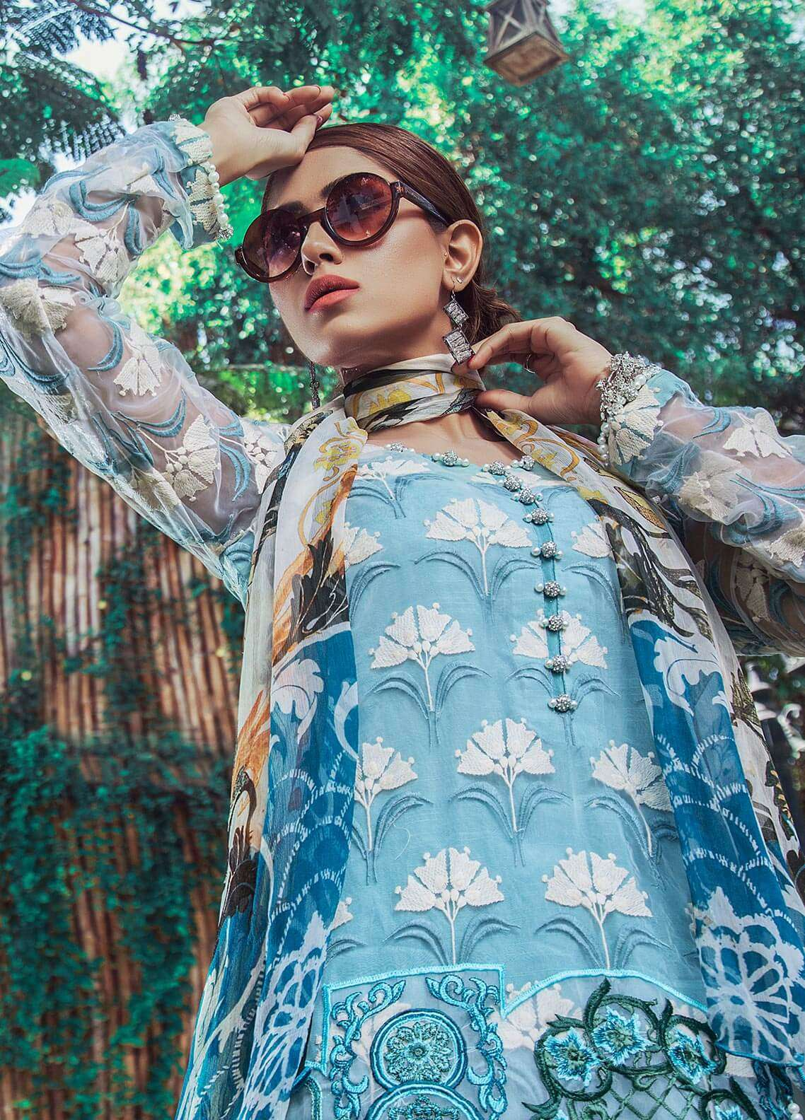 Keshia Embroidered Organza Unstitched 3 Piece Suit KE18C ESTERA - Luxury Collection