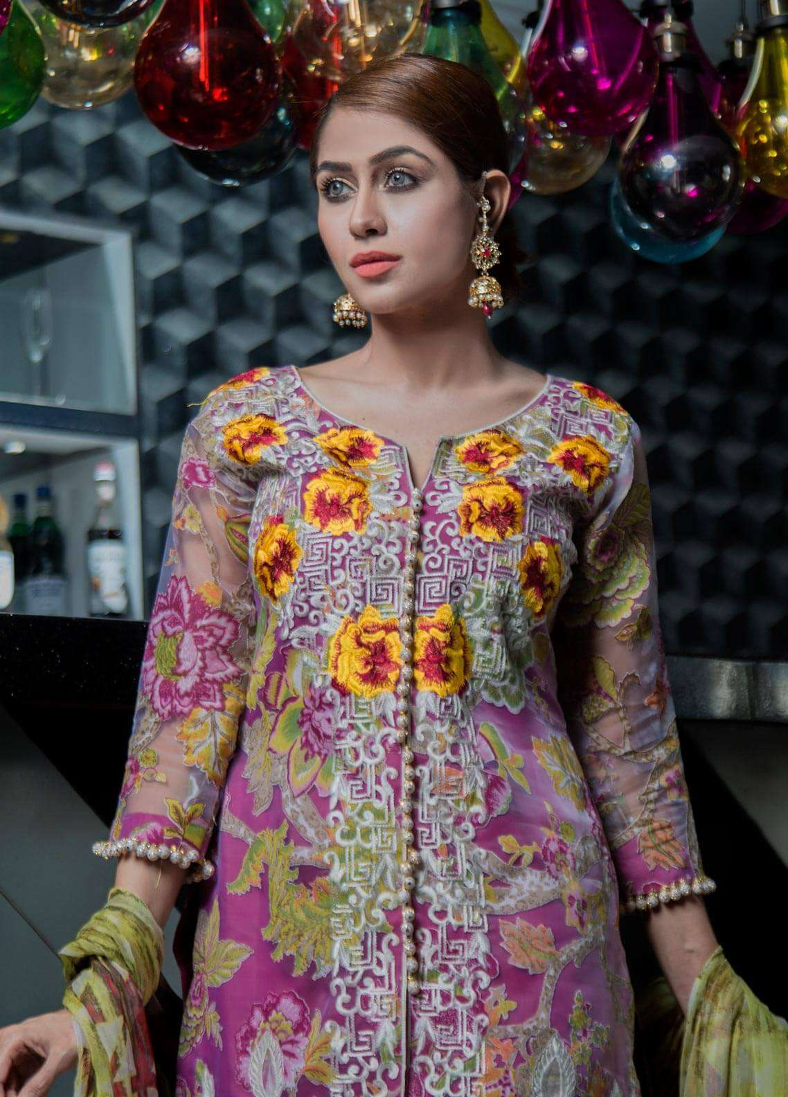 Keshia Embroidered Organza Unstitched 3 Piece Suit KE18C ZOE - Luxury Collection