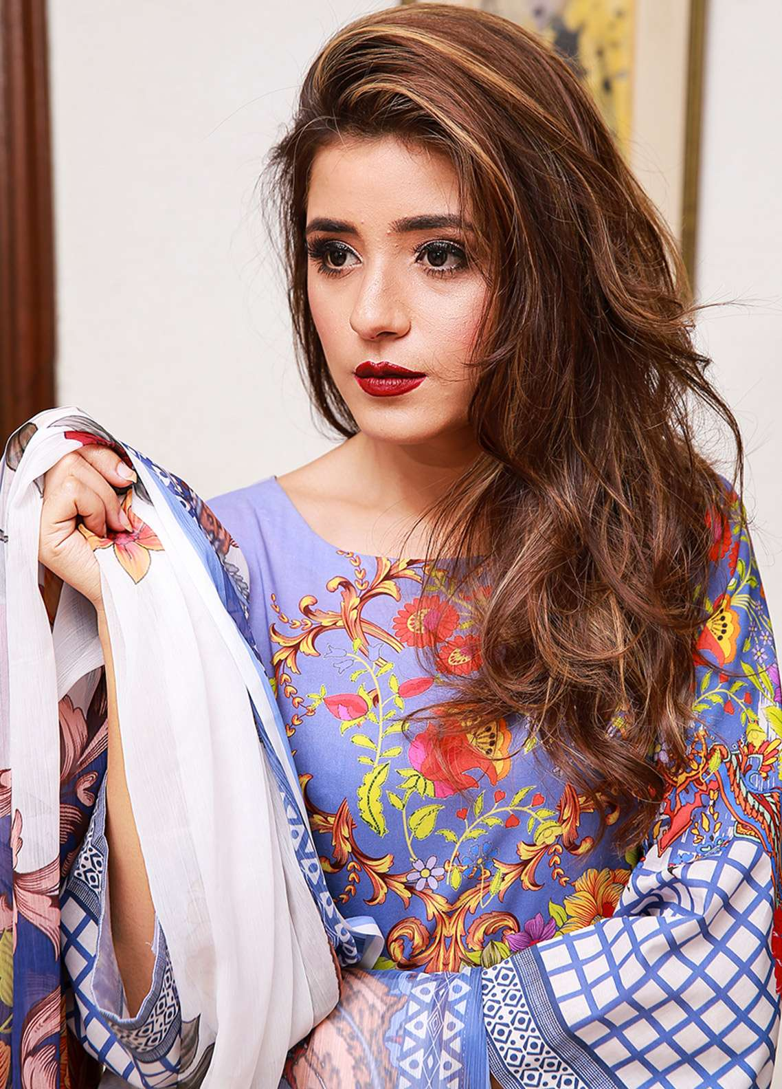 Keshia Printed Lawn Unstitched 3 Piece Suit Yolo 09 - Summer Collection