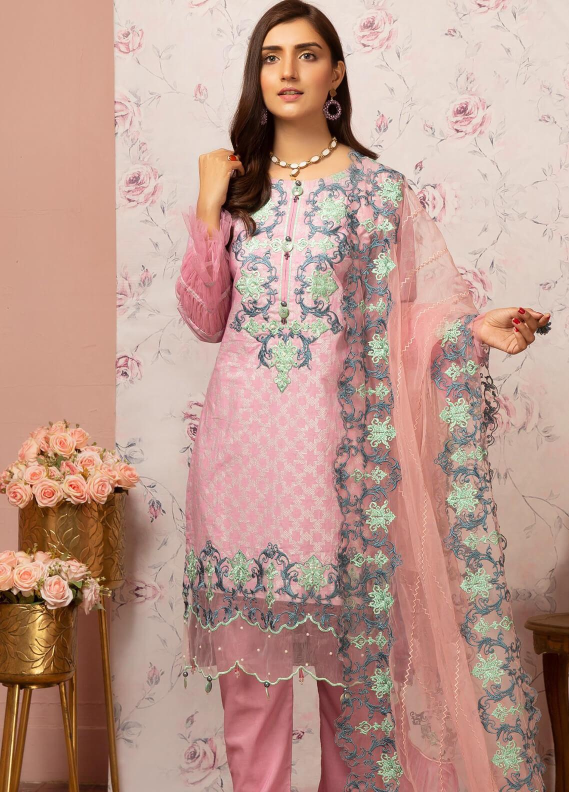 Khas Embroidered Lawn Unstitched 3 Piece Suit KHS20SV KNE-7012 Ambiguity - Spring / Summer Collection