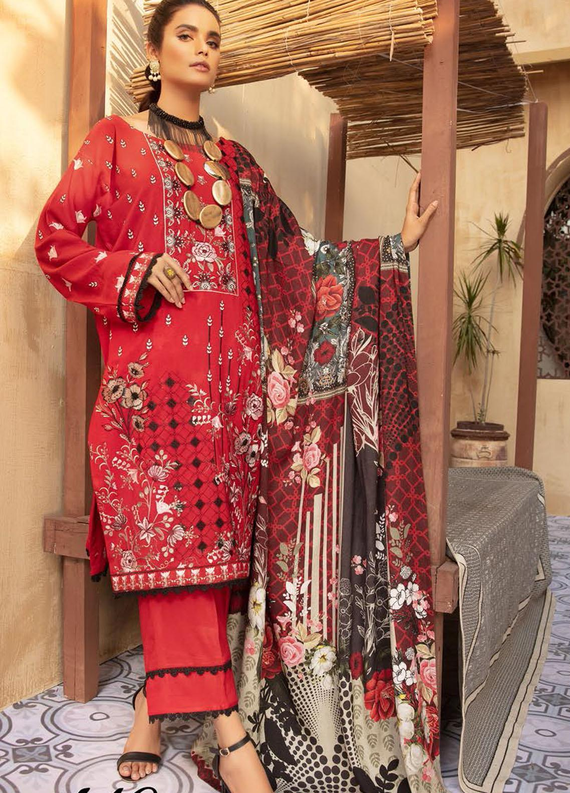 Khoobseerat by Shaista Embroidered Peach Unstitched 3 Piece Suit SHT20KB 410 - Winter Collection