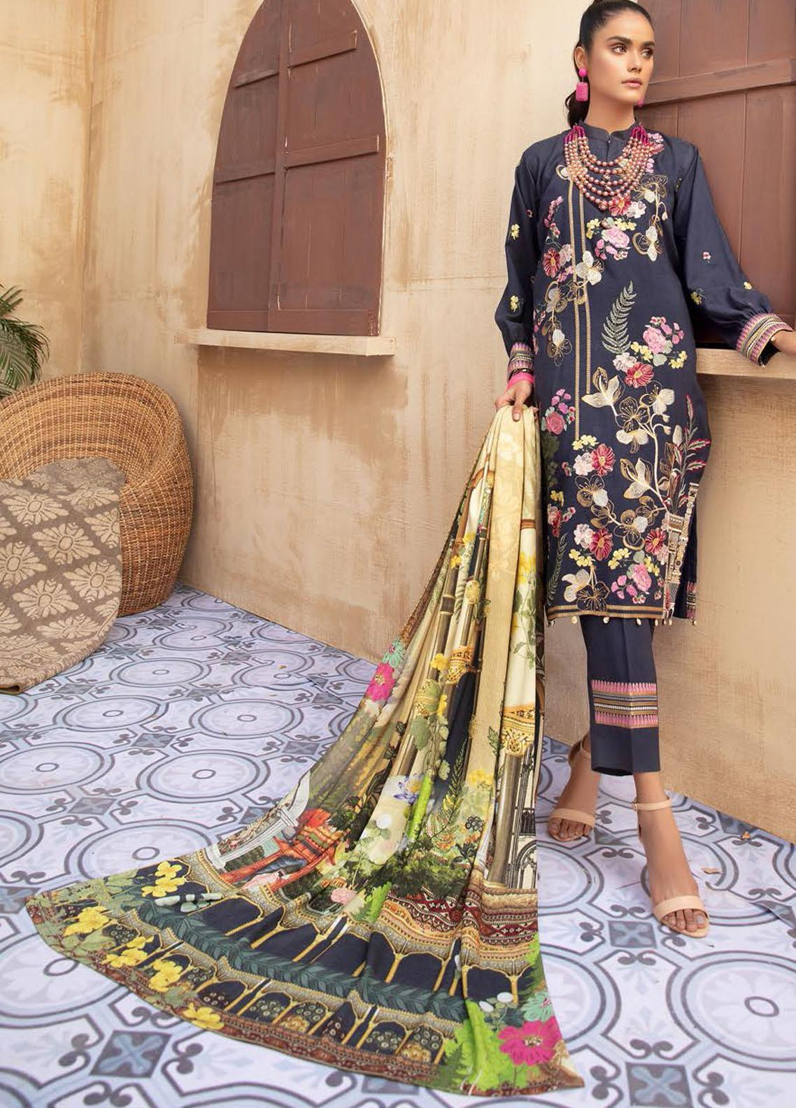 Khoobseerat by Shaista Embroidered Peach Unstitched 3 Piece Suit SHT20KB 416 - Winter Collection