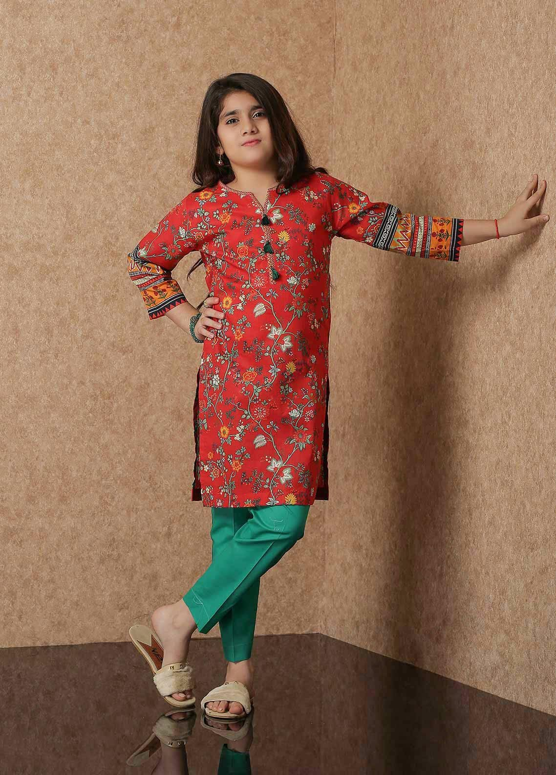 Waniya Lawn Printed 2 Piece Suit for Girls -  WKA20-01