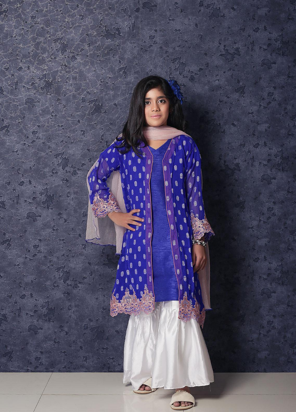 Nargis Shaheen Chiffon Formal Girls 3 Piece Suit -  NSK-020