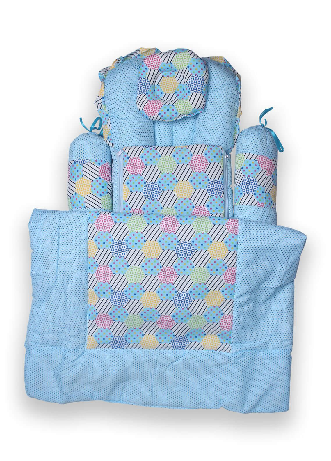 Plush Mink  Fiber Baby Set 7 Pieces PEEKABOO 7 PIECES BABY SET Blue - Baby Products